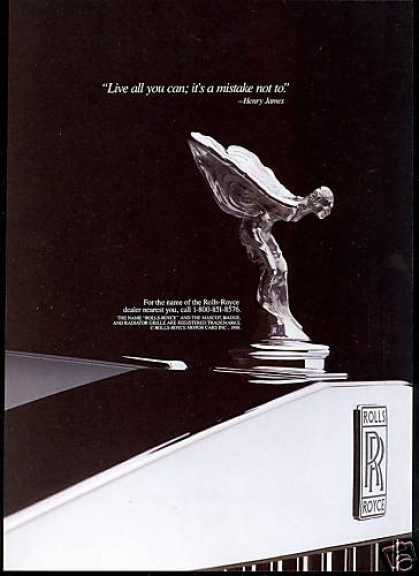 Rolls Royce Car Live All You Can (1988)