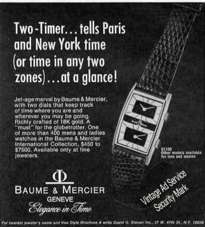 Baume & Mercier Two Dials Watch (1975)