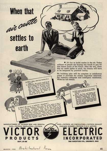 Victor Electric Products Incorporated's Ventilation – When That Air Castle Settles to Earth (1945)