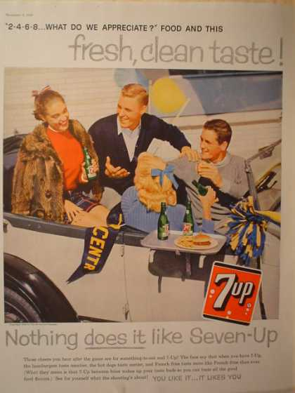 7Up 7 Up College Theme Fresh, clean (1958)