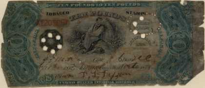 United States Internal Revenue Service's Tobacco Stamps – Ten Pound Tobacco Stamp (1873)