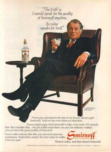 F. Lee Bailey – Smirnoff (1982)