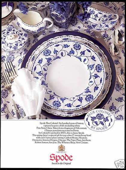 Spode Blue Colonel Bone China Photo (1991)