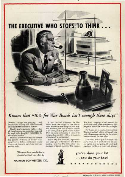 U. S. Government's War Bonds – The Executive Who Stops To Think (1943)