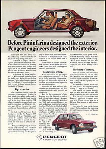 Peugeot 504 Sedan Pininfarina Design Car (1975)