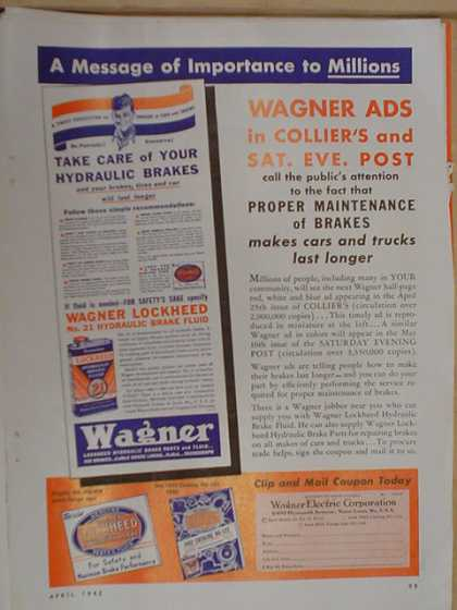 Colliers and Saturday Evening Post. Wagner Ads. (1942)