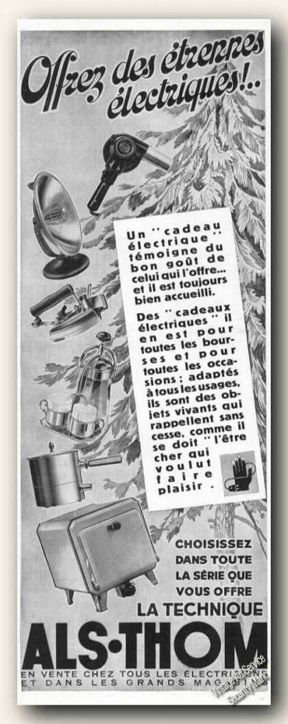 Als-thom Electric Appliances French Language (1934)