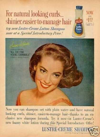 Lustre-creme Shampoo Ad Susan Kohner (1960)
