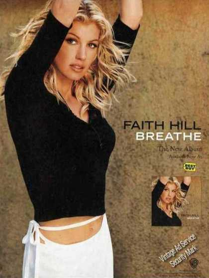 "Nice Faith Hill Photo ""Breathe"" Album Promo (1999)"