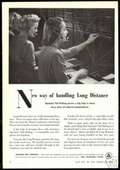Bell Telephone System Operator Toll Dialing (1951)