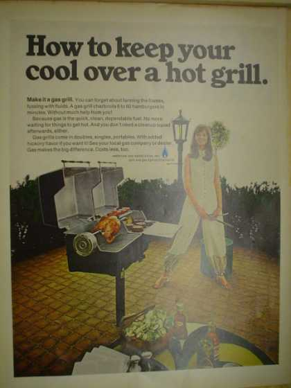 American gas association. Keep your cool over a hot grill (1968)