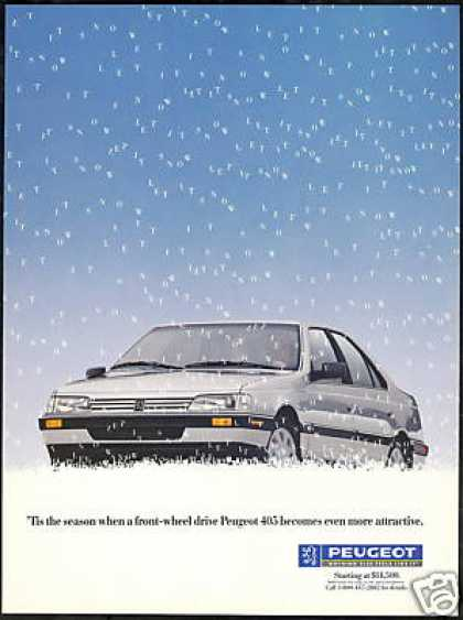Peugeot 405 Let It Snow Print Vintage (1989)