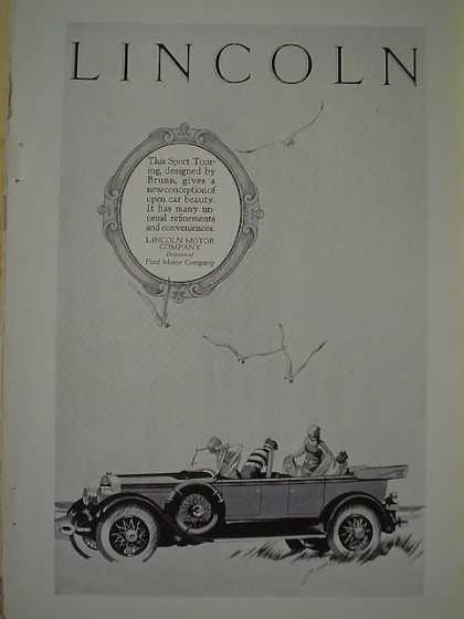 Lincoln Motor Company Div of Ford Sport Touring Brunn (1926)