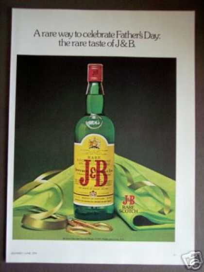 J&b Scotch Whisky for Father's Day (1976)