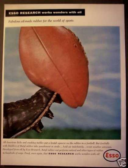 Esso Butyl Rubber Used for Footballs (1956)