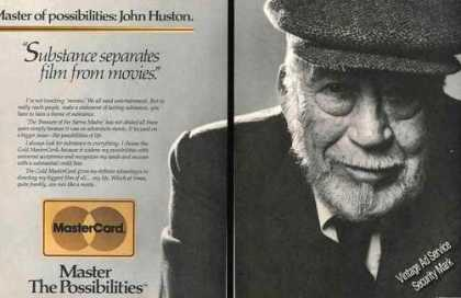 Impressive John Huston Photo Master Card (1986)