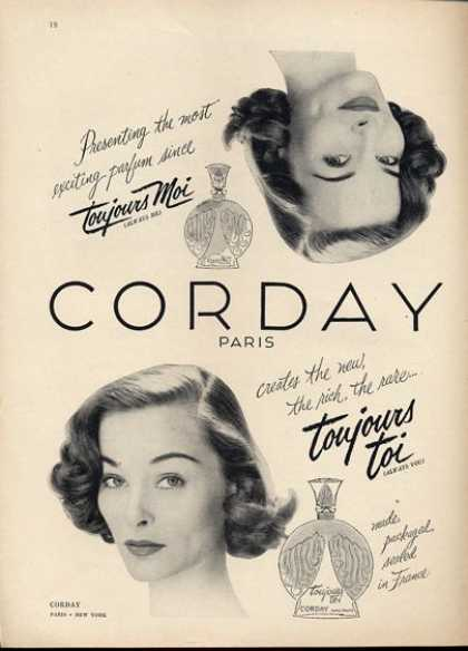Corday Toujours Toi Perfume Bottle Photo (1951)