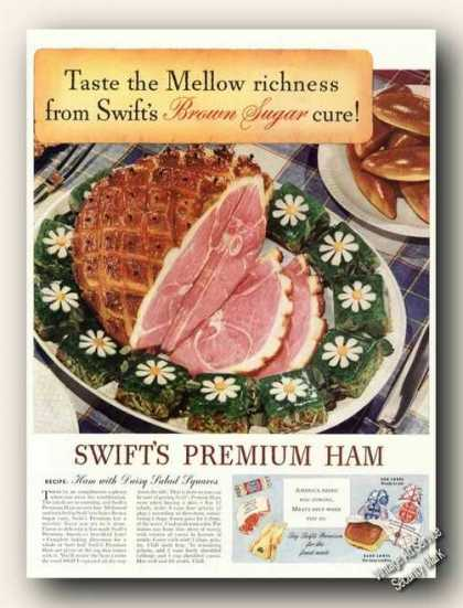 Swift's Premium Ham Large Antique (1942)
