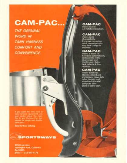 Sportsways Cam Pac Scuba Diving Tank Harnes (1968)