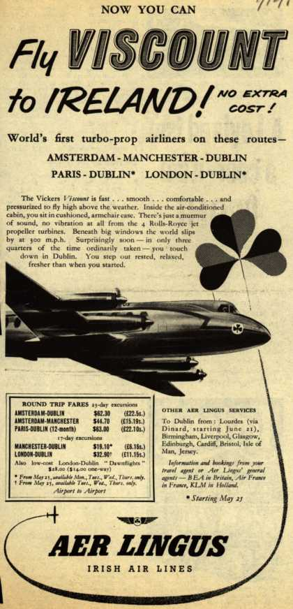 Irish Air Line's Ireland – Now You Can Fly Viscount to Ireland (1954)