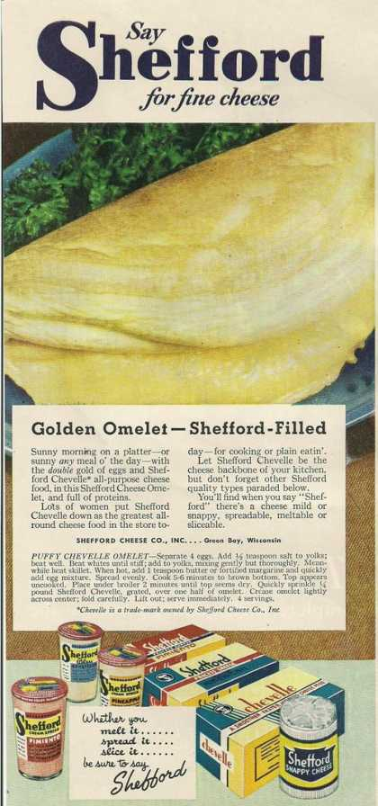 Shefford for Fine Cheese Printad (1945)