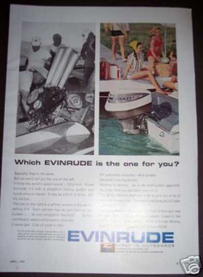 Evinrude Outboard Boat Motor (1965)