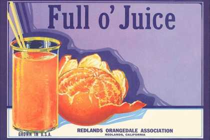 Full o' Juice Orange Crate Label