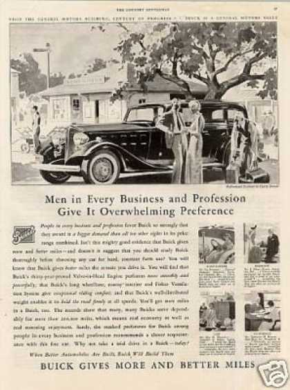 "Buick Car Ad ""Men In Every Business... (1933)"