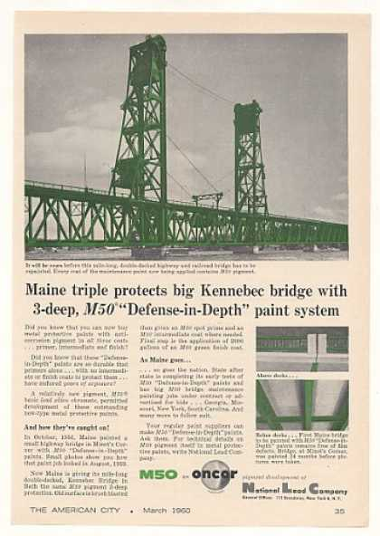 Kennebec Bridge Maine National Lead M50 Paint (1960)