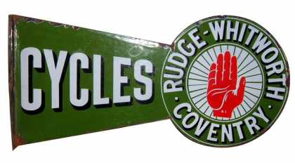 Rudge Whitworth Cycles Sign