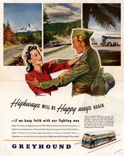 Greyhound – Highways Will Be Happy ways Again (1945)