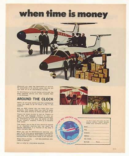 Air Mid-America Airlines Charter Service Plane (1973)