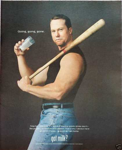 Got Milk Mark McGwire St Louis Cardinals Baseball (1999)