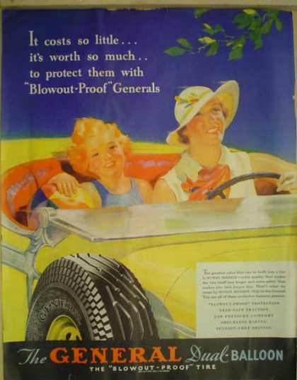 General Dual Balloon Tires Blowout proof (1935)