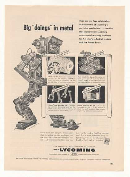 Lycoming Metal Robot Machine Artzybasheff art (1953)