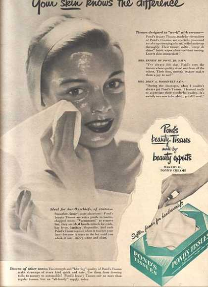 Pond's Beauty Tissues (1949)