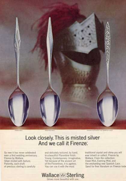 Wallace Sterling Silver Spoons 3 Pattern Photo (1964)
