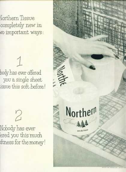 Northern Finest Quality Toilet Tissue (1954)