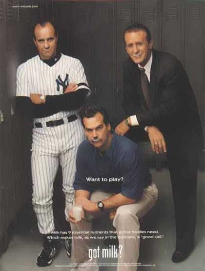 Joe Torre, Jeff Fisher, Pat Riley – Got Milk? (2000)