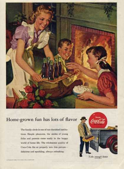Coke Coca Cola Fireplace Family Fun (1953)