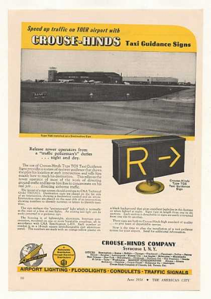 '54 Crouse-Hinds Type TGS Airport Taxi Guidance Sign (1954)