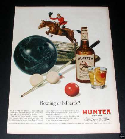 """Hunter Blended Whisky"" Ad, Ex (1949)"