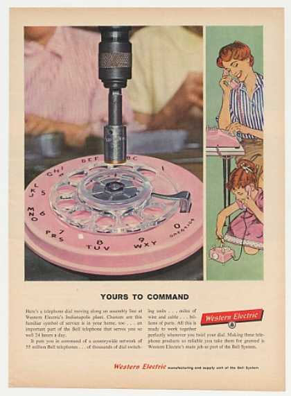 Western Electric Bell Pink Phone Dial Assembly (1959)