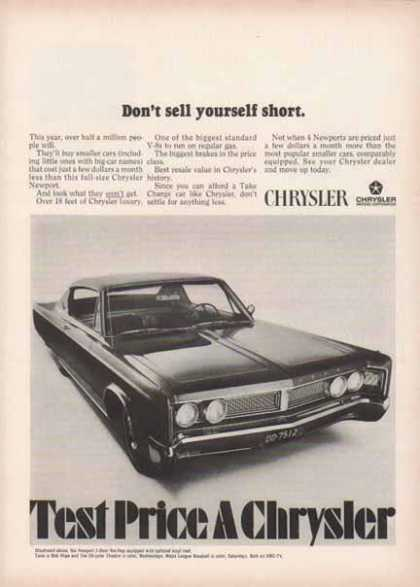 Chrysler Newport Car – Don't sell yourself short (1967)