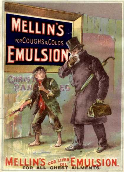 Mellin's Emulsion Coughs, Colds and Flu Medicine, UK (1890)