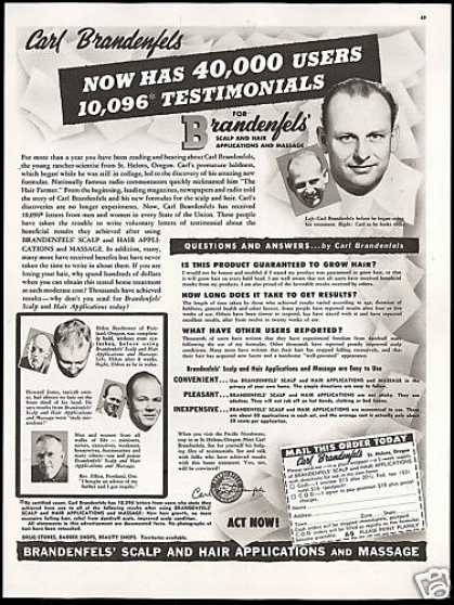 Hair Loss Treatment Carl Brandenfels (1948)