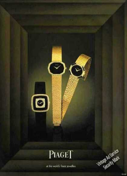 Piaget Wristwatches Dramatic Uk (1978)