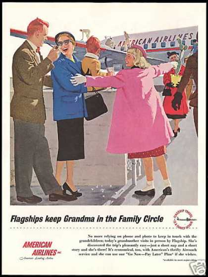 American Airlines Flagship Grandma Family Art (1955)