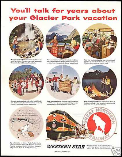 Great Northern Railway Train Railroad Parks (1954)