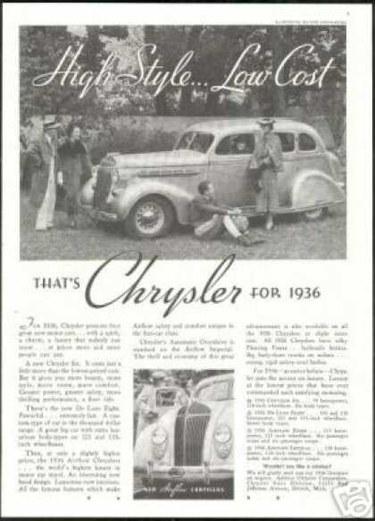 Chrysler 4 Dr Vintage Photo Print Car (1936)
